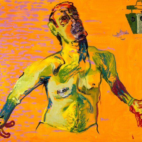"Opera di Martin Kippenberger, dal titolo ""Untitled (from the series The Raft of Medusa), del 1996."